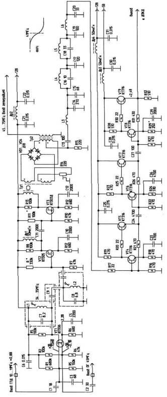 Рис.5. VT1.  Схема фазового детектора и его выходных цепей стандартная, и особенностей не имеет.